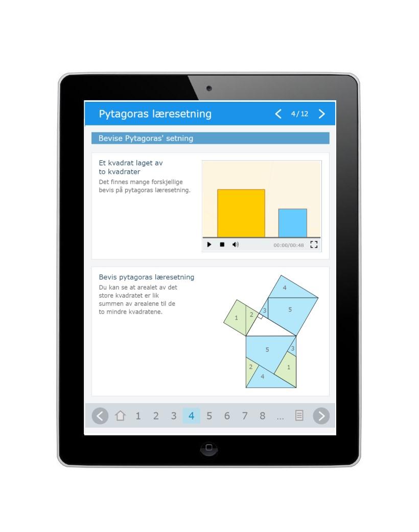 Digitalt læremiddel i matematikk for Fagfornyelsen som erstatter en lærebok