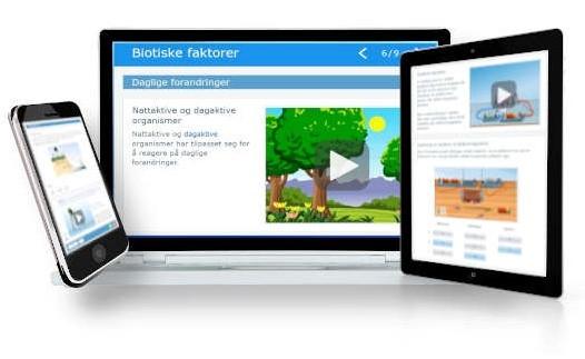 Digitalt læremiddel i naturfag som erstatter lærebok med animasjoner og læringsanalyse