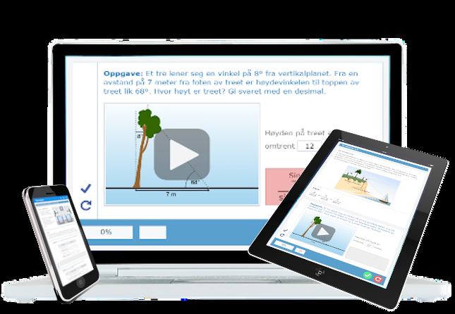 Digital lærebok på nett med animasjoner