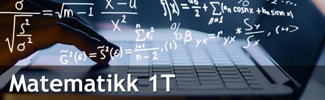 Matematikk 1T er et heldigital lærebok på nett. Et læremiddel som vektlegger undring, forståelse og anvendelse.